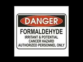 Formaldehyde is an irritant, and a potential cancer hazard.