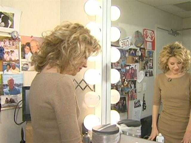 Dorothy readies for Channel 5's Eyeopener News, airing at 4:30am.