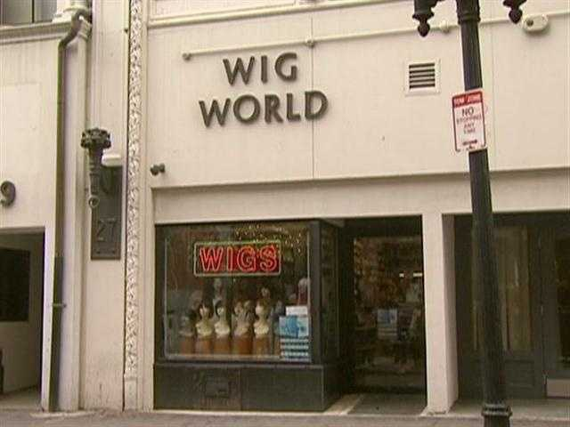 Welcome to Wig World, in Boston's downtown crossing.