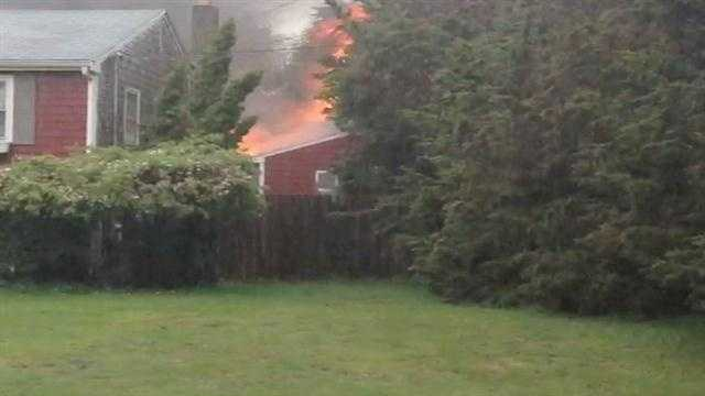 A fire broke out on Old Colony Road in Marshfield
