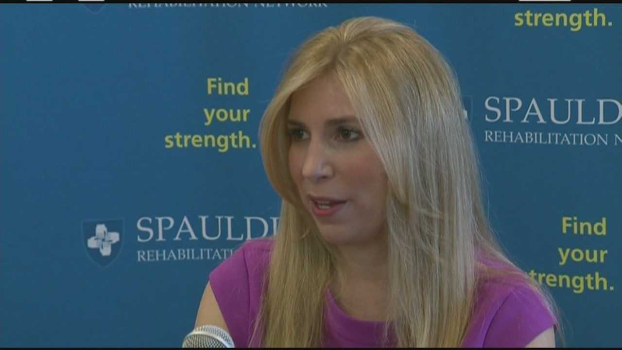 Heather Abbott of Newport, Rhode Island said in a news conference Friday she plans to head immediately to Fenway Park, the last place she visited before the Boston Marathon Bombing.
