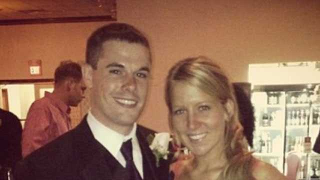 Sean Jackman and Evan Bard in a picture taken at a wedding they attended prior to the crash.