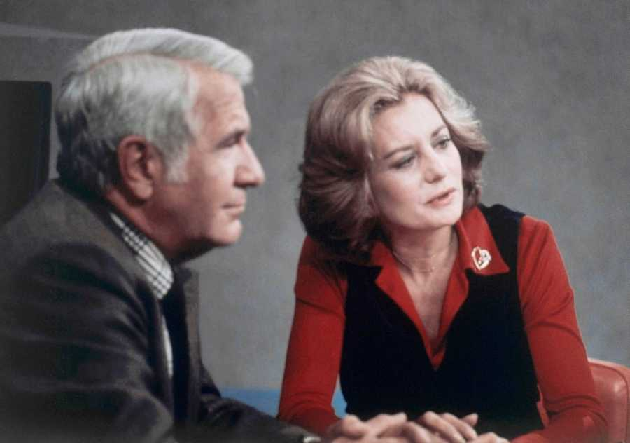 She was the first female anchor on an evening news report, ABC's Evening News in 1976, aside Harry Reasoner.