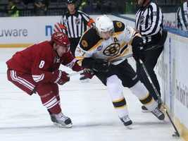Bergeron suffered a second concussion in a game against the Carolina Hurricanes on Dec. 20, 2008, when he collided with an opposing defenseman.