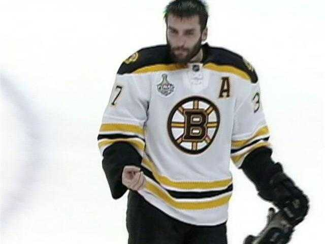 On June 1, 2011, Canucks' Alex Burrows allegedly bit Bergeron's finger. No penalty was called and the league did not fine or suspend Burrows because the alleged bite was not supported by any evidence.