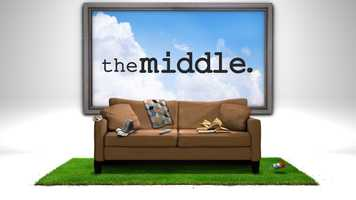 """THE MIDDLE"" (Season 5)Two-time Emmy winner Patricia Heaton stars in this warm and witty single-camera comedy about raising a family and lowering your expectations. Middle-aged, middle class and living in the middle of the country in Orson, Indiana, Frankie Heck is a harried wife and mother of three who uses her wry wit and sense of humor to get her family through each day intact. Having been fired as the least successful sales woman at the town's only surviving car dealership, Frankie re-evaluated her career path and is now working as a dental assistant. Her unflappable husband, Mike, is manager at the local quarry and her sardonic partner in the daily grind that is raising their average - yes, most definitely average - family."