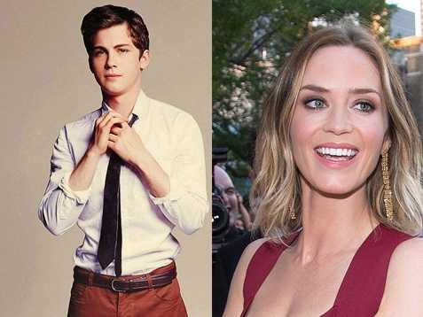 7) Logan and Emily(Pictured: Actor Logan Lerman, and actress Emily Blunt)