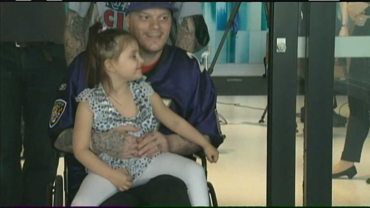A Stoneham man who lost a leg in the bombings at the Boston Marathon left the hospital on Thursday.