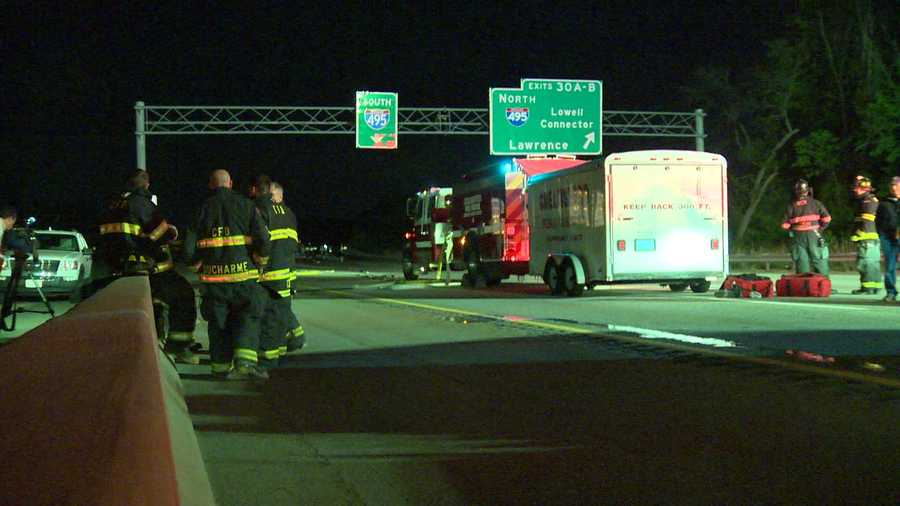 The accident forced the closure of both sides of Route 3 for a time early Saturday morning.