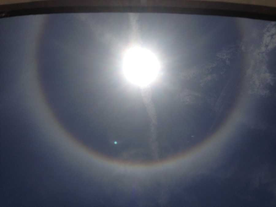 Sun Halos are somewhat common, according to the National Weather Service.