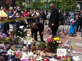 """""""It's a privilege on behalf of the people of Ireland to lay flowers at the scene,"""" said the Prime Minister."""