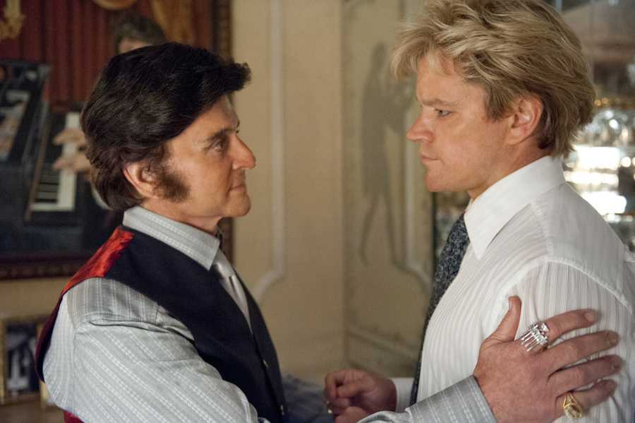 """""""It was a very deep love affair,"""" Damon says of Liberace's relationship with his character. """"You know, it was a marriage in a lot of ways for these guys."""""""