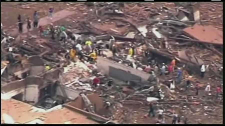 Volunteers and first responders were searching through debris looking for survivors.