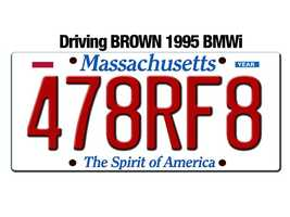 Police say Lockwood drove off in a brown, 1995 BMWi, Massachusetts registration 478RF8.