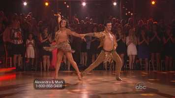 """Her samba wowed the judges. Tonioli said she did everything he asked for and that she was """"prettier than ever, and cleaner and slicker than ever."""""""