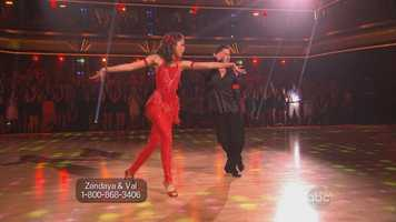 """Tonioli: """"You're just incredibly fierce, child … you have a natural flamboyance that's so easy. It comes out without effort."""" Zendaya earned 30 points."""