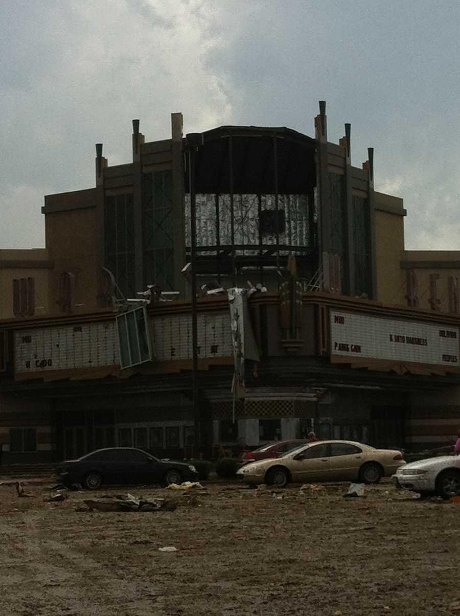 Warren Theatre following the tornado.