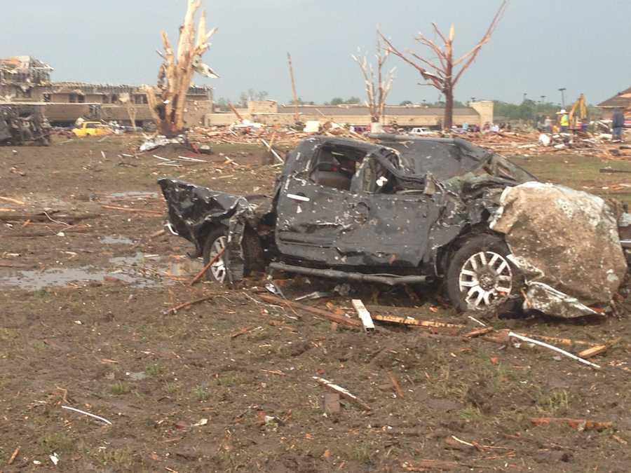 Moore tornado devastation.
