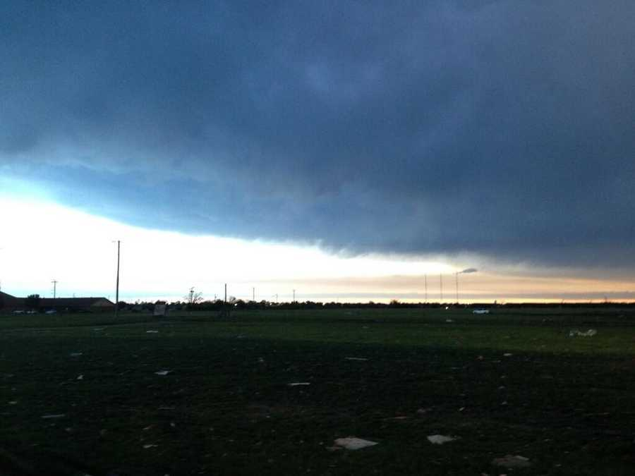 The sky in Moore at daybreak.
