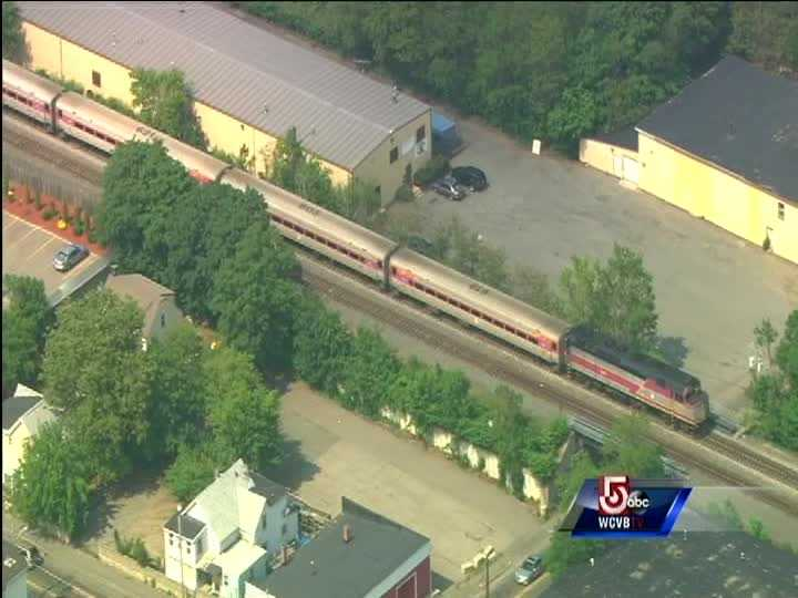 A train carrying no passengers, struck a trespasser at 2:14 p.m. near the Montello Station in Brockton.
