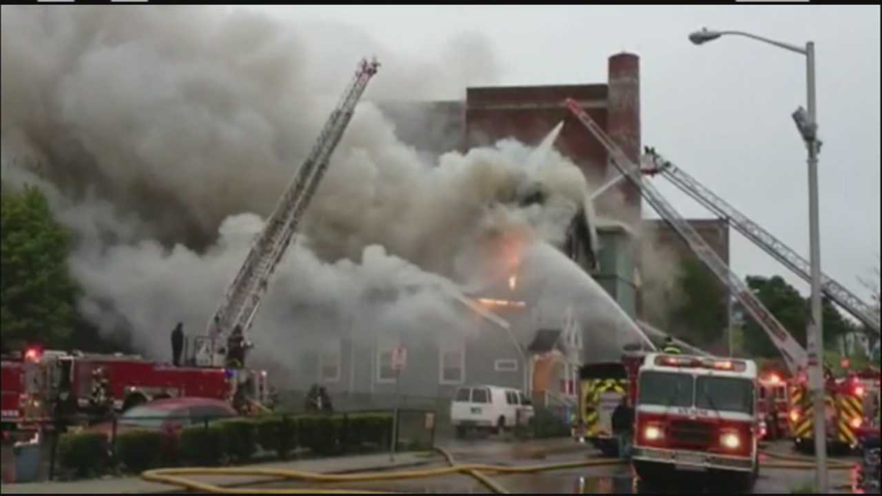 A Lynn church went up in flames early Wednesday morning.