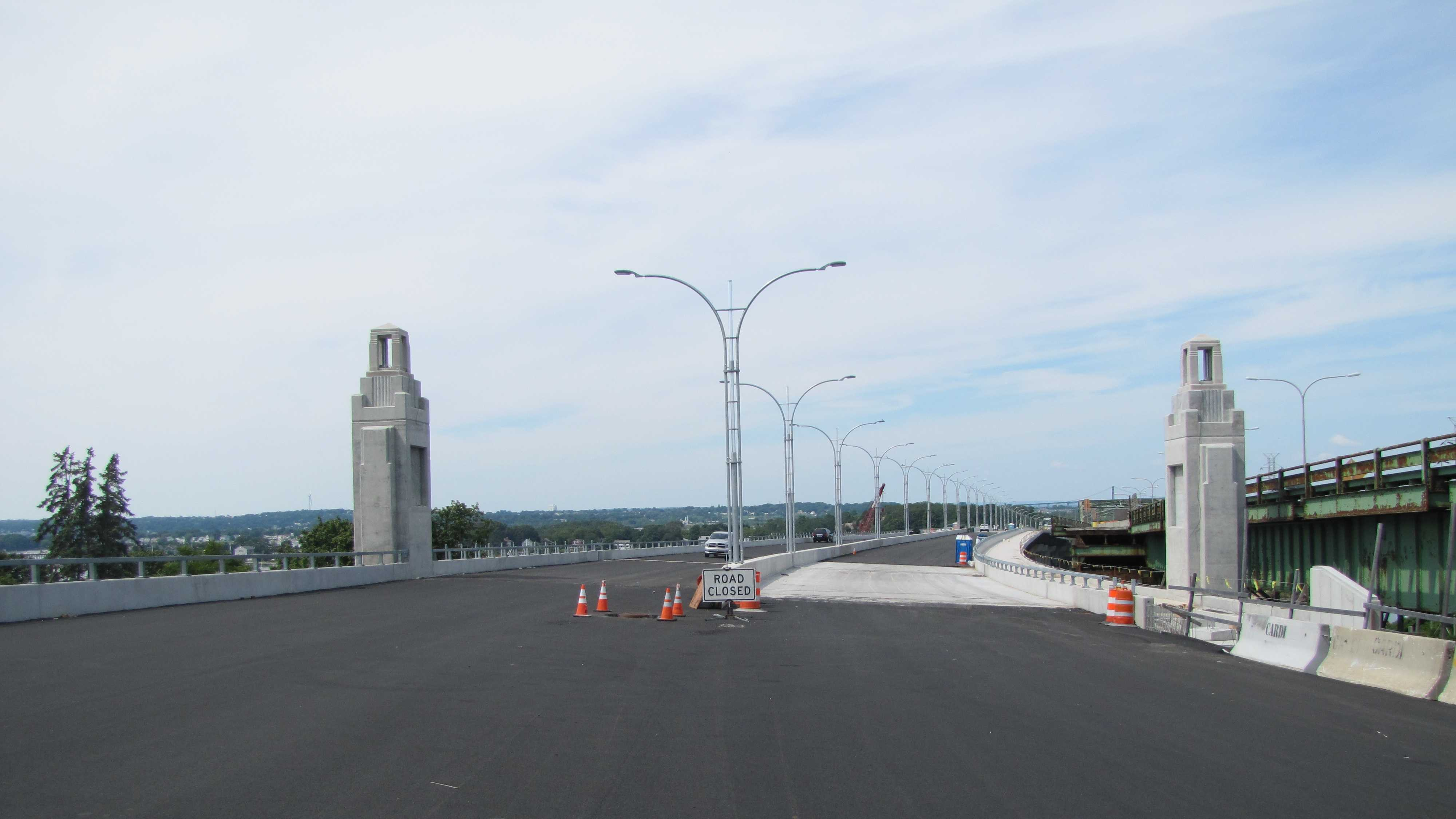 This file photo shows the just completed Sakonnet bridge in Rhode Island.