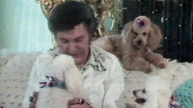 His collection of canine kids included Yorkshire terriers, Malteses, Shar-peis, a cocker spaniel and French poodles.