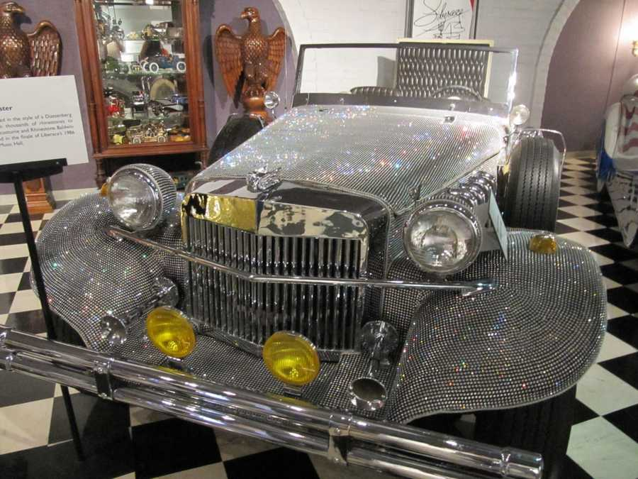 Clothed in capes and jewels, Liberace would arrive on stage in a chauffeured Rolls Royce and often played at a revolving piano.