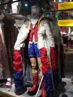 In 1976, during the height of the American Bicentennial, he once performed wearing red, white and blue hot pants. It made headlines around the world.