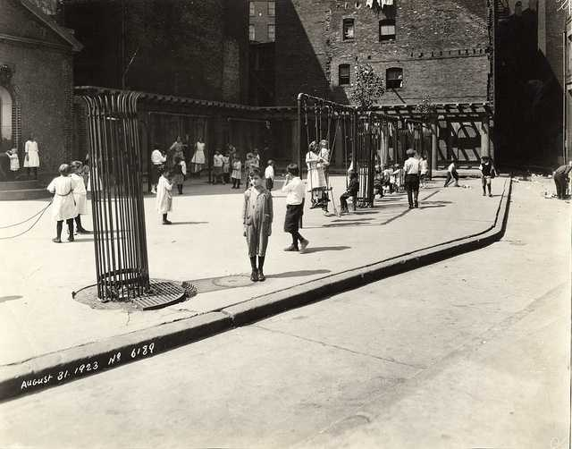 From 1923: Playground on Stillman Street in the North End
