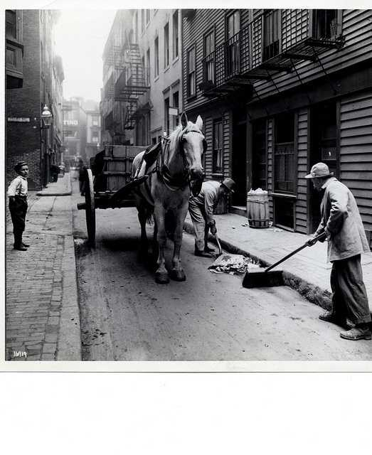 Undated:  Street Sweeper in the North End