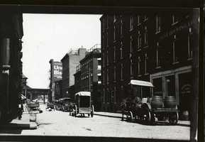 Undated photo of what appears to be Washington Street in the North End.