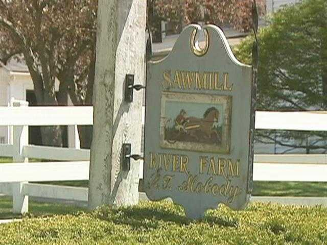On 300 rolling acres of rolling hills: Sawmill River Farm.