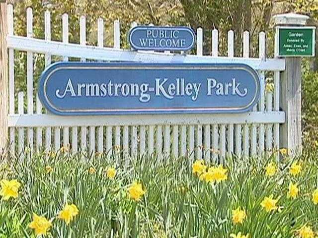 Flowers blooming in Armstrong Kelly Park -- a sign of spring in Osterville.