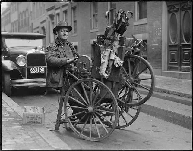 1930: Knife sharpener, North End