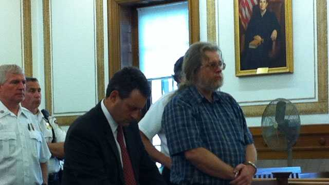 Gary Irving is sentenced in Norfolk Superior Court May 23, 2013.
