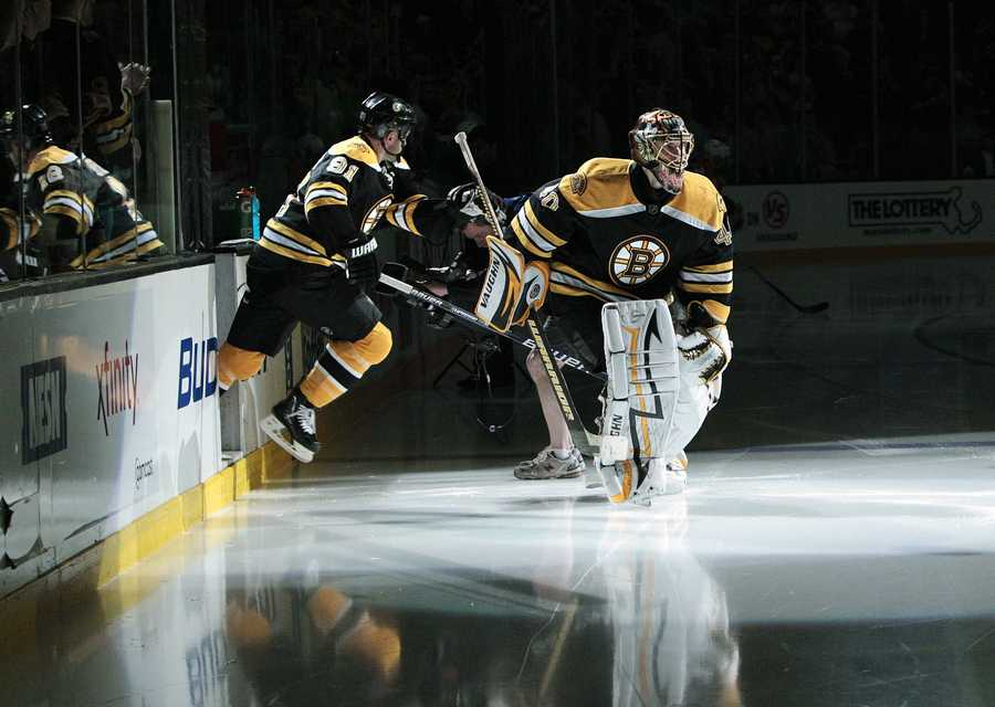 He has faced 1 penalty shot, stopping Phi's Ville Leino on May, 12, 2010.