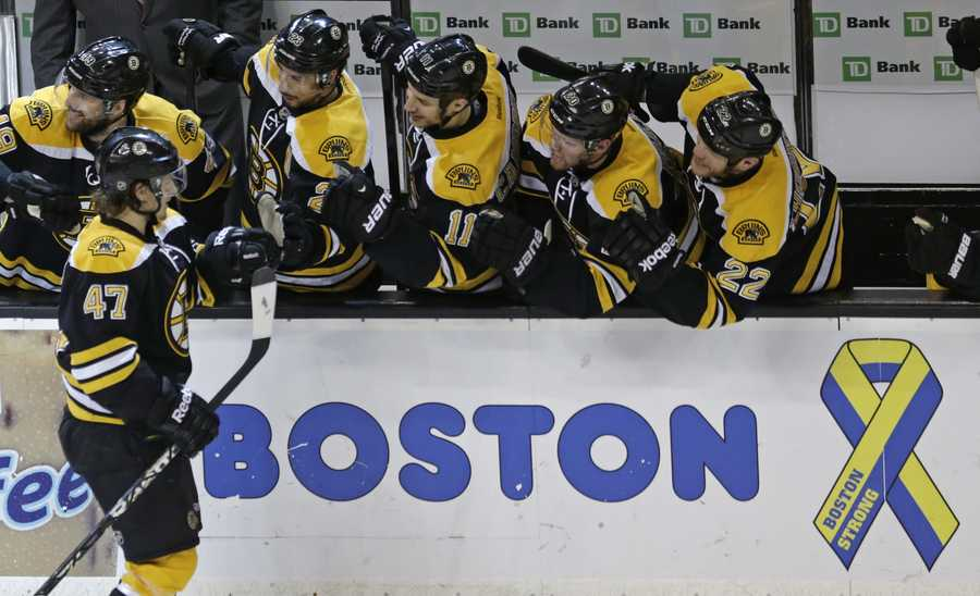 Krug scored his first NHL goal during his first NHL playoff game, in the Eastern Conference Semifinals against the New York Rangers, becoming the first Bruins defenseman to score in his playoff debut since Glen Wesley in 1988.