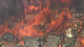 The school, which was closed in 2002, has been the site of several arsons over the years.