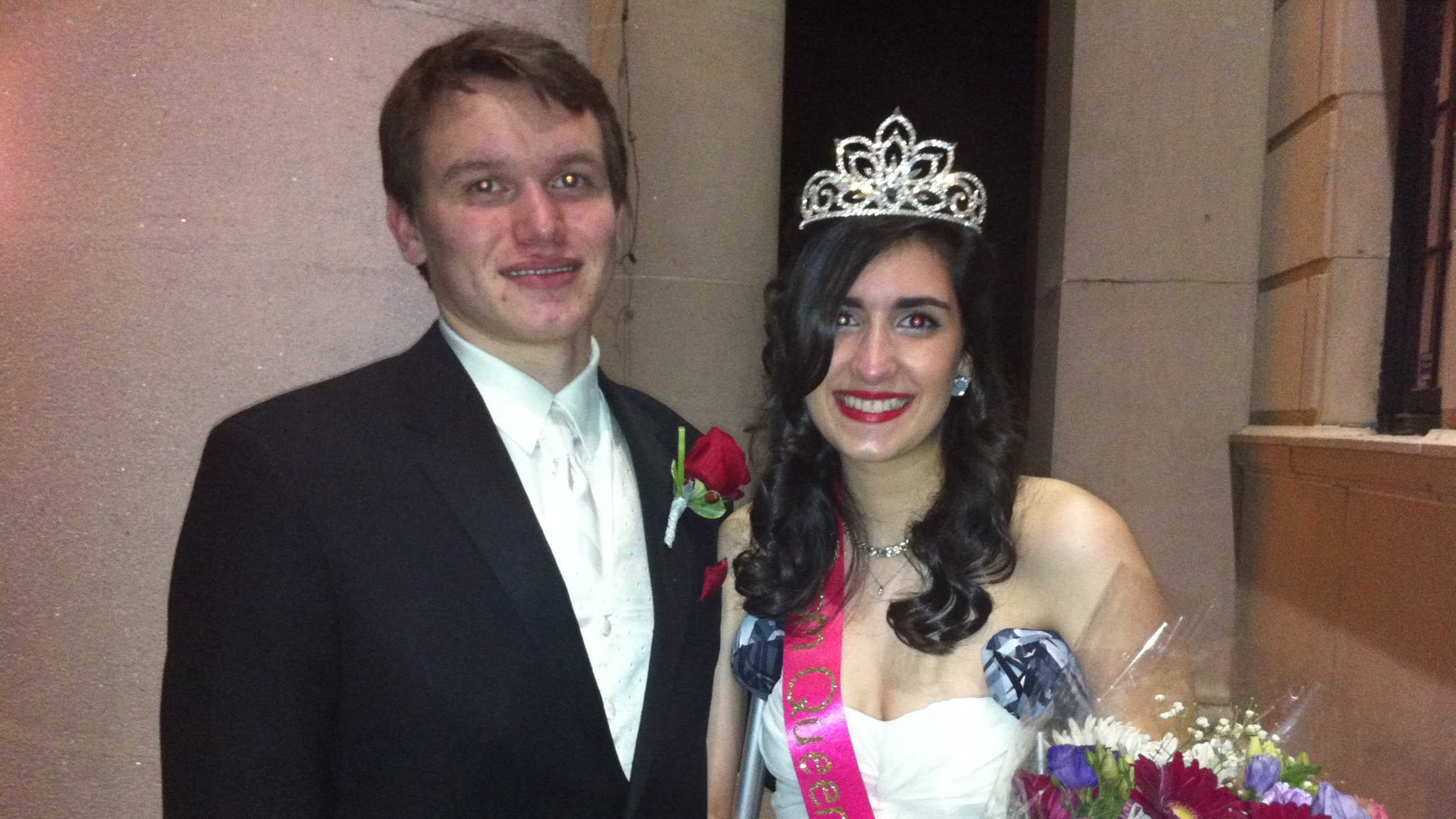 Sydney Corcoran, 18, and her mother, Celeste, were injured in the attacks. Sydney was crowned prom queen at Lowell High School's senior prom.