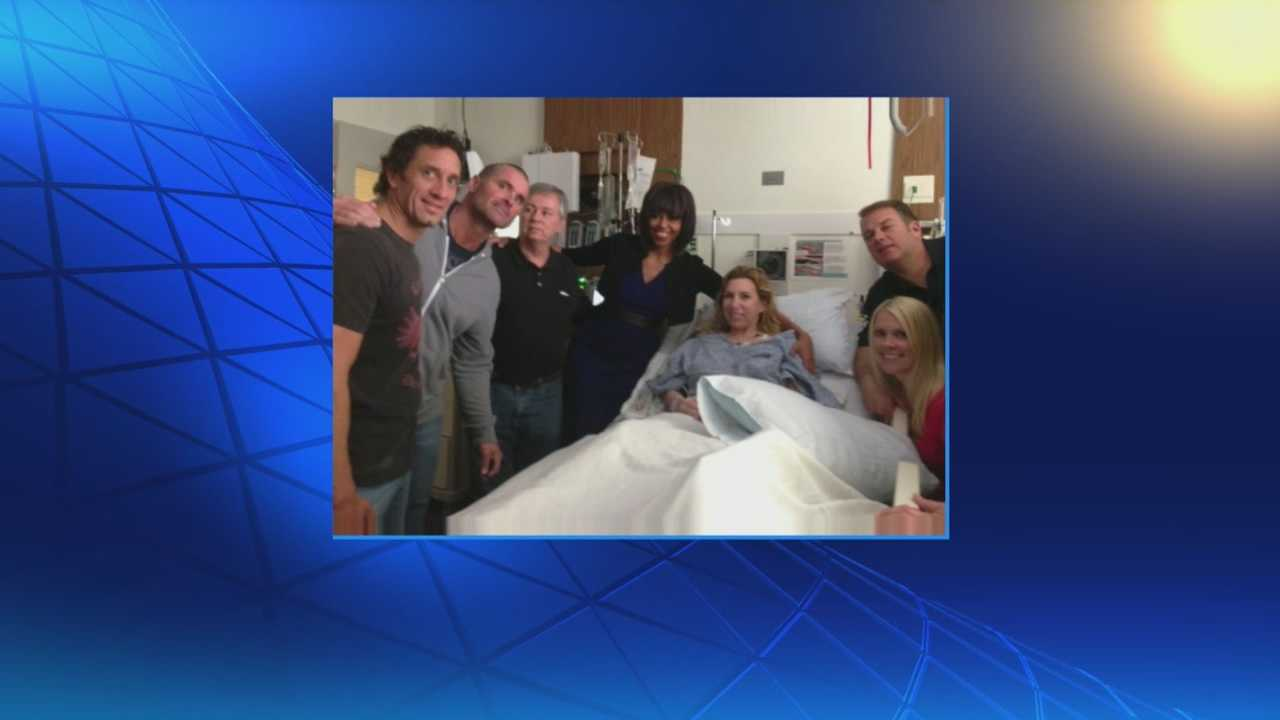 The First Lady has met with Boston Marathon bombing survivors.
