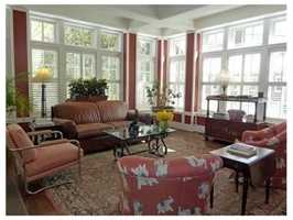 It a 17-foot conservatory with coffered ceiling.