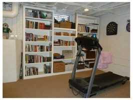 A finished basement.
