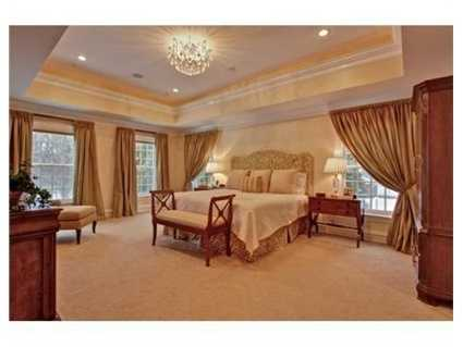 The luxurious master suite.