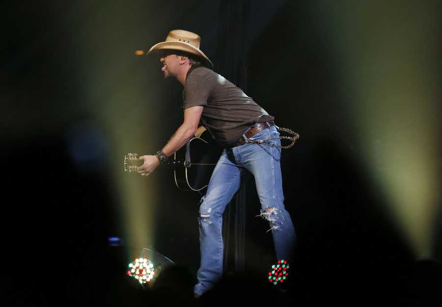 Country superstar Jason Aldean performs at the Boston Strong Concert: An Evening of Support and Celebration at the TD Garden.