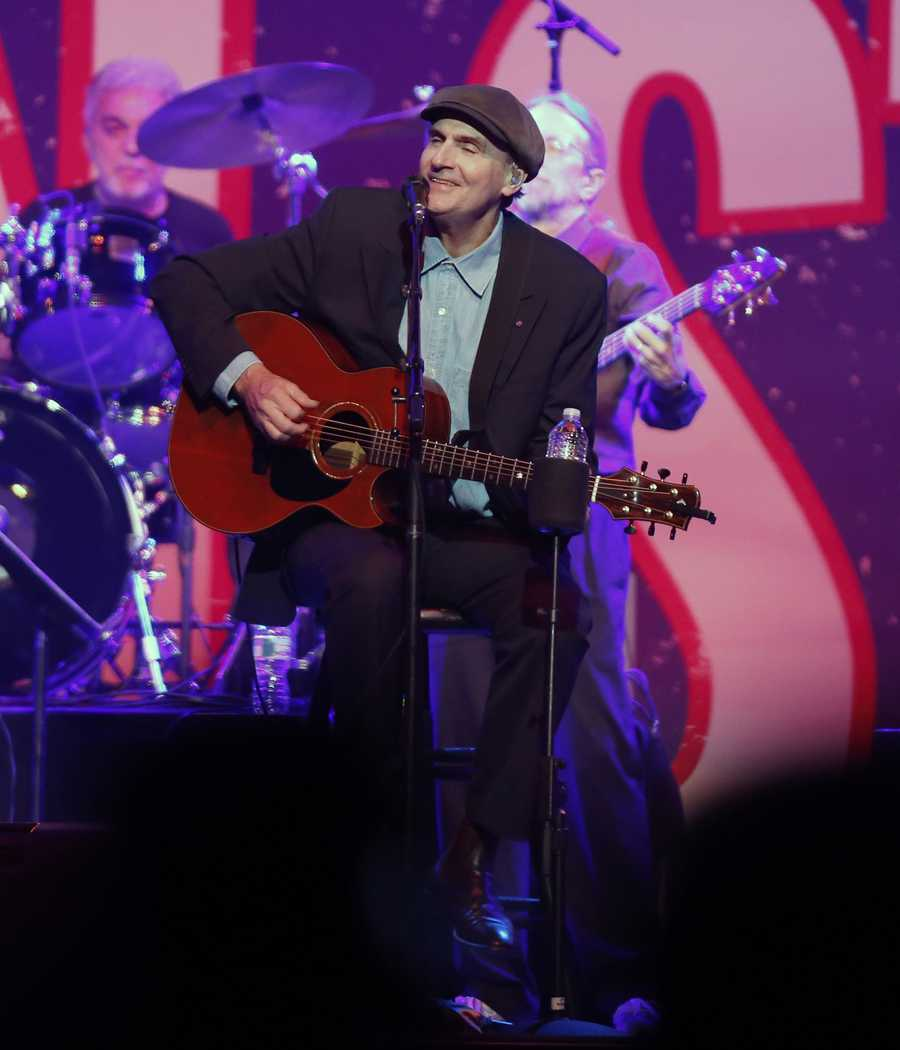 James Taylor performs at the Boston Strong Concert: An Evening of Support and Celebration at the TD Garden
