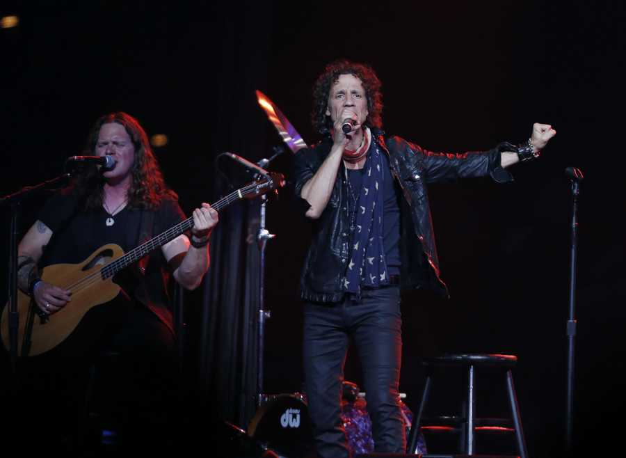 Gary Cherone, lead singer of American band Extreme performs at the Boston Strong Concert: An Evening of Support and Celebration at the TD Garden