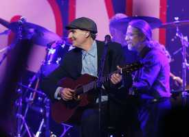 James Taylor performs at the Boston Strong Concert: An Evening of Support and Celebration at the TD Garden.