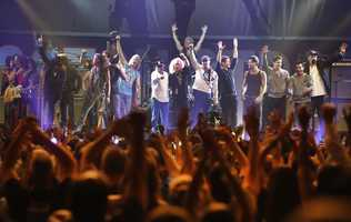 Artists who performed at the Boston Strong Concert took the stage during an Evening of Support and Celebration at the TD Garden