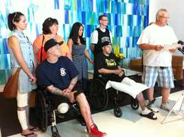 JP Norden, 33, who lost a leg in the Boston Marathon bombings, was released from Spaulding Hospital Friday.